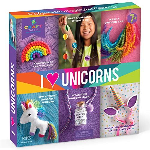 Craft-tastic - I Love Unicorns Kit - Craft Kit Includes 6 Unicorn-Themed Projects