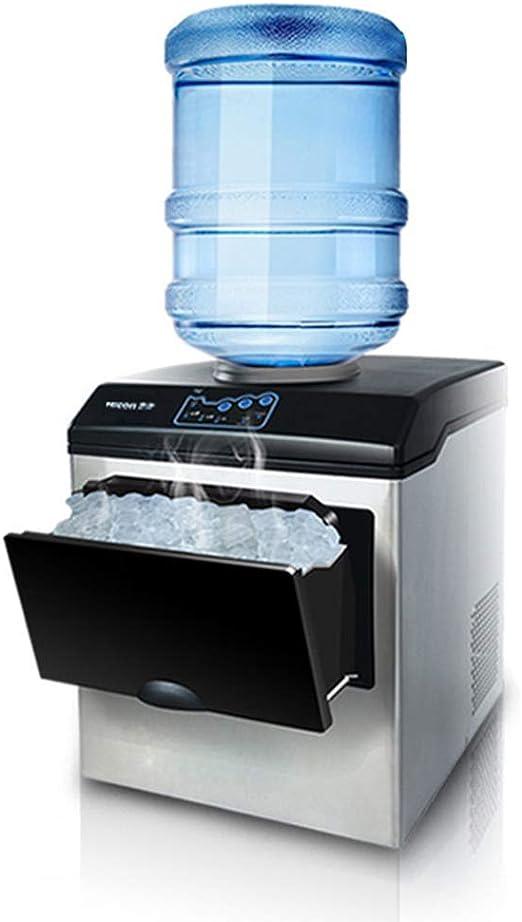 MáQuina Para Hacer Hielo Con Pantalla Led, Dispensador De Agua 2 En 1 Encimera Incorporada De