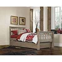 NE Kids Highlands Harper Twin Slat Bed with Trundle in Driftwood