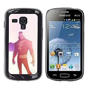 Shell-Star Arte & diseño plástico duro Fundas Cover Cubre Hard Case Cover para Samsung Galaxy S Duos / S7562 ( Superhero Lightning Cape Vignette )