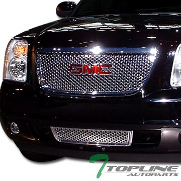 Chrome Round Hole Style Mesh Front Lower Bumper Grill Grille Yukon Denali ()