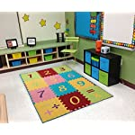 "Ottomanson Garden Collection Numbers Math Design X50"" Children Nursery Kids Play Area Rug, 33"" x 50"", Multicolor"