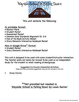 Amazon.com : Wayside School is Falling Down Novel Study Unit CD ...