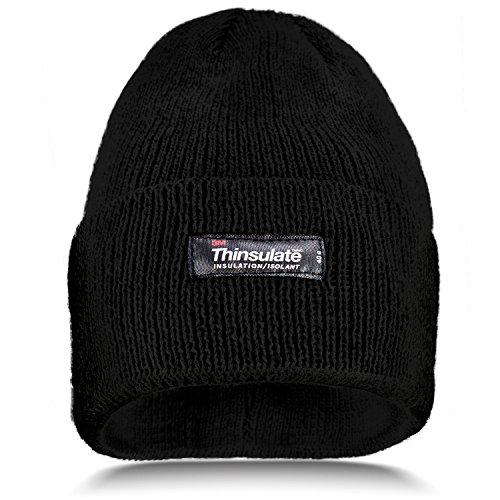 Invierno gris negro con Hombre talla Gorro única forro Thinsulate Gorro Gorro d5vU5nx0q