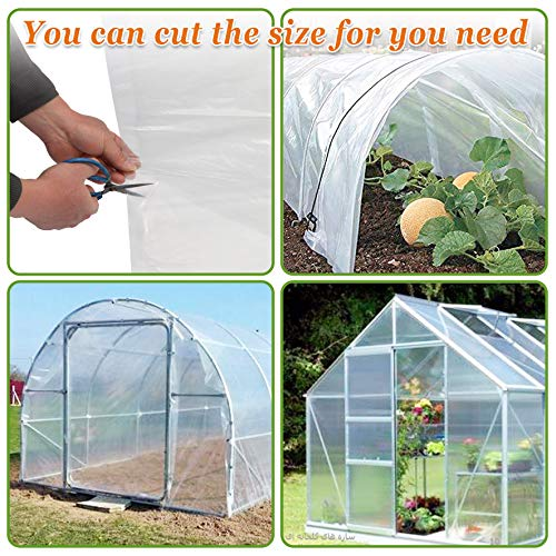 Strong Camel Plastic Greenhouse Cover 6mil Thicker Polyethylene Covering 12ft X 25ft by Strong Camel (Image #5)