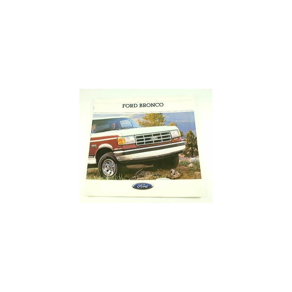 1988 88 Ford BRONCO Truck BROCHURE Eddie Bauer XLT