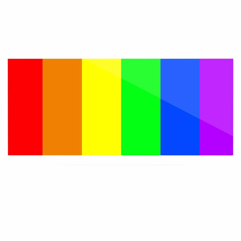 24 x 36 Kess InHouse Bruce Stanfield Rainbow Stripes Digital Luxe Rectangle Panel