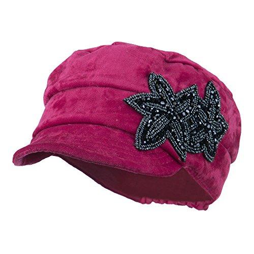 Beaded Velvet Hat - 5
