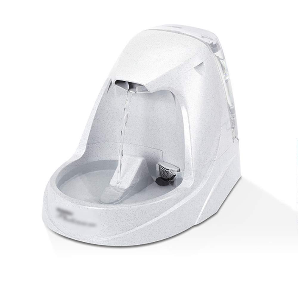 CWY Dispensador de Agua para Mascotas Dispensador Automático de Circulación de Oxígeno, Filtro Eléctrico, Dispensador de Agua, Gris, una