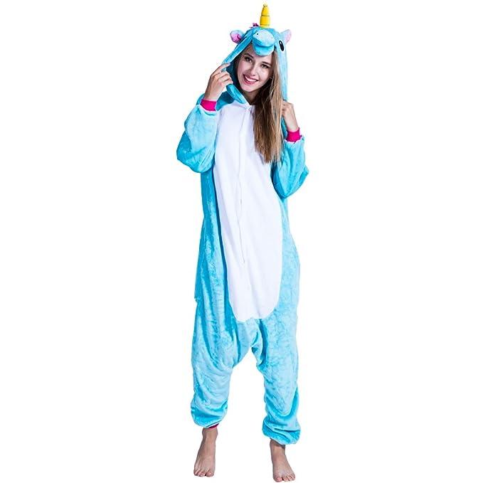 Minetom Mujer Hombre Animal Carnaval Disfraz Cosplay Unisex Adultos  Unicornio Pijamas Ropa De Dormir Pijamas De. EraSpooky Unisex Adulto  Animales Unicornio ... bef0c308ef8f