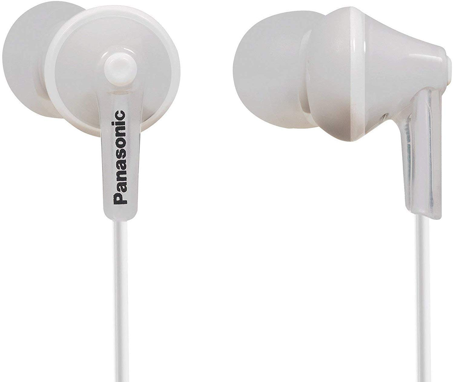 Panasonic RP-HJE125E-W Ergofit In Ear Wired Earphones with Powerful Sound, Comfortable Non-Slip Fit, Includes 3 Sized Ear Buds - White