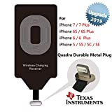 Qi Charger Receiver Wireless Charging Adapter Compatible with Apple iPhone 7 Plus 6s 6 SE 5 S C - Cordless Fast Charge Receptor Module Card TI Chip Tag for iPhone7 iPhone6s iPhone6 7Plus 6sPlus 5s 5c
