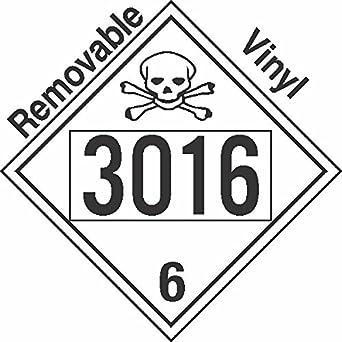 gc labels p301c3016 poisin toxic class 6 1 un3016 removable vinyl NFPA Hazard Label gc labels p301c3016 poisin toxic class 6 1 un3016 removable vinyl dot placard package