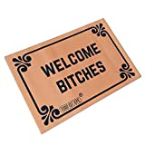 Welcome Bitches - Funny Doormats Personalized Durable Machine-washable Indoor/outdoor Door Mat 23.6'(L) x 15.7'(W) Inch