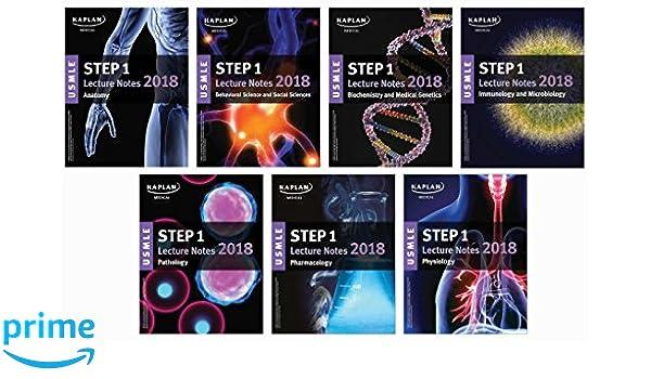 usmle step 1 lecture notes 7book set kaplan test prep medicine u0026 health science books amazoncom