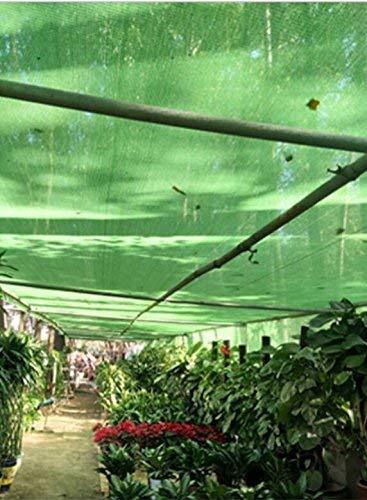 JINSH Tenda Esterna Rete ombreggiante, Protezione Solare Protezione Solare Isolamento Rete criptazione Balcone Esterno Parasole Rete in polietilene, verde (Colore   A, Dimensione   6  8m)