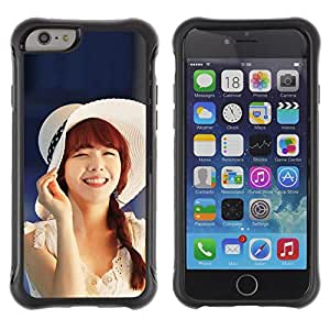 Pulsar Defender Series Tpu silicona Carcasa Funda Case para Apple iPhone 6(4.7 inches) , Cute Koeran Asian Girl