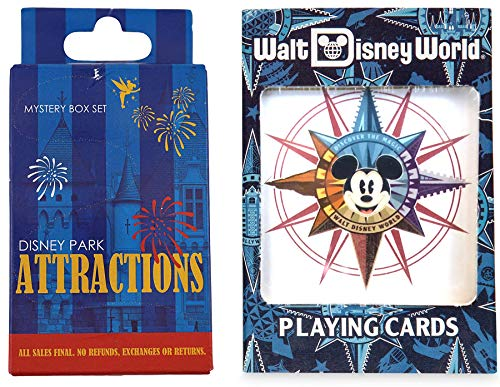 - Parks Attractions Disney Playing Cards Compass Mickey Magic Kingdom + Ride Character Attractions Blind Box Trading Pins