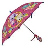 Shopkins Girls SPK Let's Party Pink Umbrella with Clamshell Handle