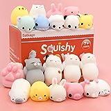 Mochi Squishy Squeeze Toy, Satkago Mochi Juguetes Blandos Mini Animal Squishy Estrés Alivio de Animales Juguetes Mochi Squeeze Juguete