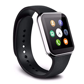 Amazon.com: A9 Smart Watch with Heart Rate Monitor and ...
