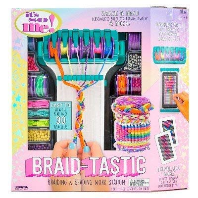 It's So Me174; Braid-tastic! Braiding & Beading Workstation MULTI-COLORED: Toys & Games