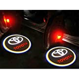Flyox Universal Car Door LED Logo Projector Lamp Ghost Shadow Welcome Lights Laser Emblem Logo Kit for Toyota Series (2 Pack )