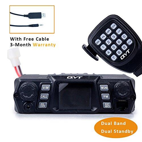 QYT KT-980 PLUS (Gen. 2) 75W(VHF)/55W(UHF) Dual Band Quad Standby Base, Mobile Radio Amateur Transceiver Car Radio (HAM) (Base Kit Radio Ham Station)