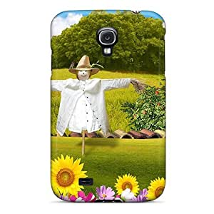 Hot Tpu Cover Case For Galaxy/ S4 Case Cover Skin - Scarecrow In Field