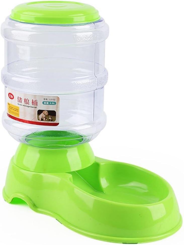 POPETPOP Automático Comedero para Mascota, Gatos y Mascotas Dispensador de Comidas, Alimentador de Gatos Perros, Dispensador de Comida para Gatos y Perros 3.5L (Verde): Amazon.es: Productos para mascotas