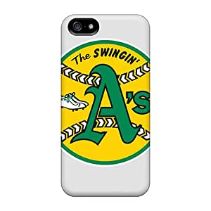 Durable Defender Cases For Iphone 5/5s Tpu Covers(oakland Athletics)