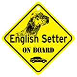 KC Creations English Setter On Board Dog Sign Gift