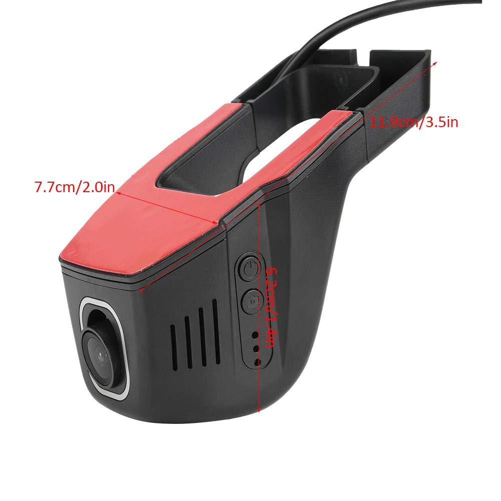 Akozon Coche DVR C/ámara Grabadora de video Wifi Dash Cam Dashboard C/ámara DVR Grabadora de video Full HD 1080P Grabador de conducci/ón Versi/ón nocturna