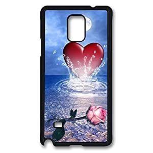 iCustomonline Design Case for Samsung Galaxy Note 4 Hard Black - Heart Of Love