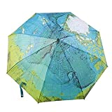 econoLED Compact World Map Travel Umbrella - Windproof,...
