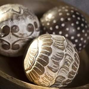 Nkuku Scallops Decorative Mango Wood Ball