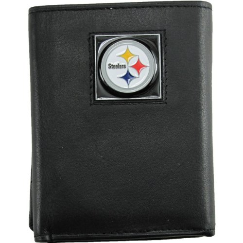 (NFL Pittsburgh Steelers Leather Tri-fold Wallet)