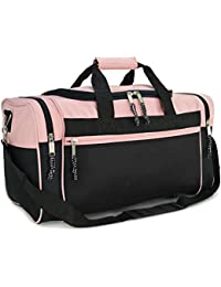 "21"" Blank Sports Duffle Bag Gym Bag Travel Duffel with Adjustable Strap in Pink"