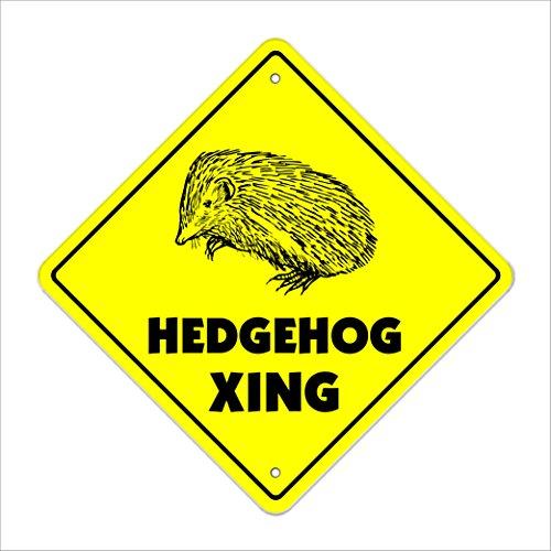 Hedgehog Crossing Sign Zone Xing | Indoor/Outdoor | 20