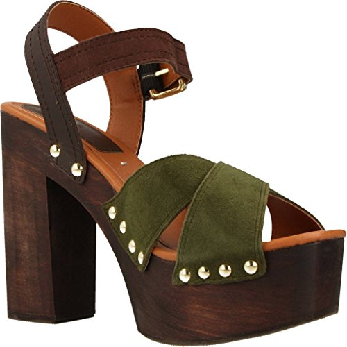 Sandalias y chanclas para mujer, color Verde , marca GIOSEPPO, modelo Sandalias Y Chanclas Para Mujer GIOSEPPO 39072G Verde Verde