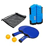 Poolmaster Play N Go Indoor/Outdoor Portable On-The-Go Mounting Table Tennis Game Set In Brilliant Blue, Includes Drawstring Bag For Storage And Transporting!