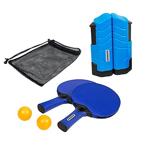 Poolmaster Play N Go Indoor/Outdoor Portable On-The-Go Mounting Table Tennis Game Set In Brilliant Blue, Includes Drawstring Bag For Storage And Transporting! by Unknown
