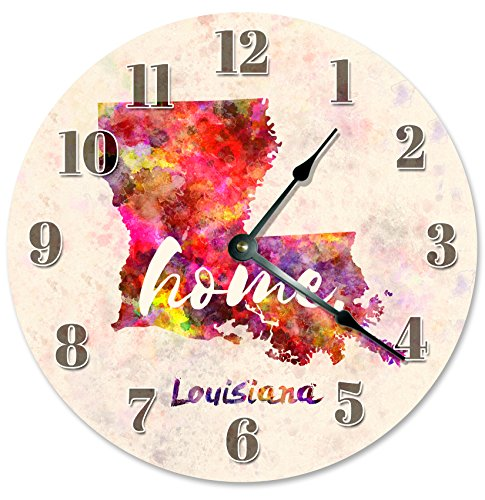LOUISIANA STATE HOME CLOCK Large 10.5