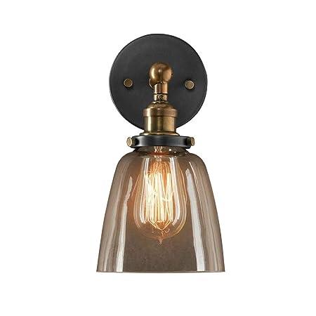 Lámpara de pared retro industrial con luz de pared, DOCJX Arandela ...