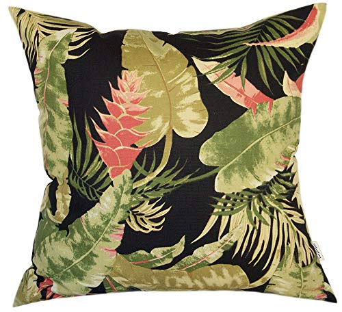 TangDepot 100% Cotton Decorative Handmade Floral Leaf Throw Pillow Cover/Pillow Sham/Cushion Cover, 11 Size Options, European Pillow Covers - (28