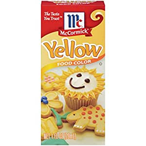 Amazon.com : McCormick Yellow Food Color, 1 fl oz : Food Coloring ...