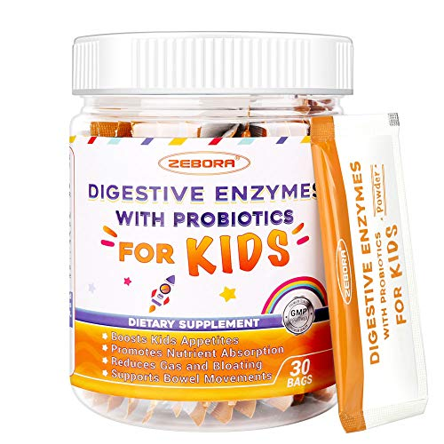 Kids Probiotics Immune-Support + Digestive-Enzymes Supplement Works Naturally with Your Child's Body Helps Defense Occasional Gas, Bloating, 30 Day Supply