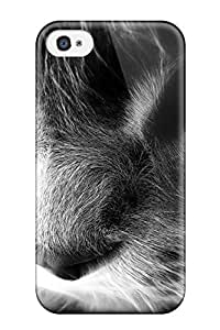 Excellent Iphone 4/4s Case Tpu Cover Back Skin Protector Rainbow Cat Artistic Cg Animal Cat