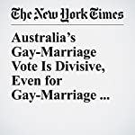 Australia's Gay-Marriage Vote Is Divisive, Even for Gay-Marriage Backers | Jacqueline Williams