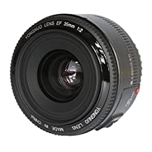 YONGNUO YN 35mm F2 Wide Angle Lens with Automatic Focus and Manual Focus Options with TARION Case for Canon DSLR Cameras